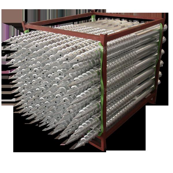 光伏支架 —— 螺旋地樁